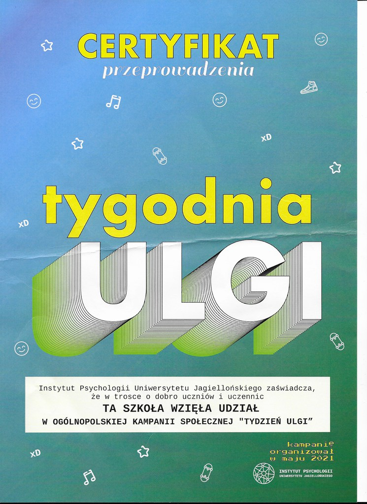 Certyfikat Tydzień ulgi .jpeg